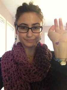 Fellow Crohn's blogger @SarahChoueiry setting the stage for the #PurpleChallenge yesterday!