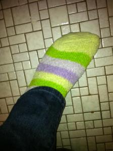 and purple striped socks :-)