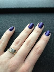 Purple nails!