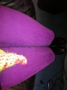 I'm rocking purple jeans for Day 7