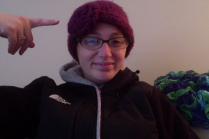 I'm rocking a purple hat today